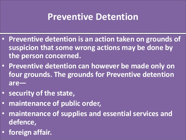 ias4sure.com - Preventive Detention