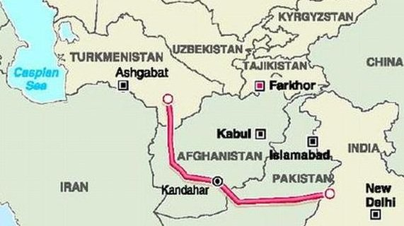 Turkmenistan-Afghanistan-Pakistan-India (TAPI) gas pipeline - IAS4Sure