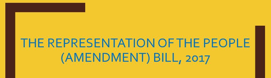 ias4sure.com - Representation of the People (Amendment) Bill, 2017